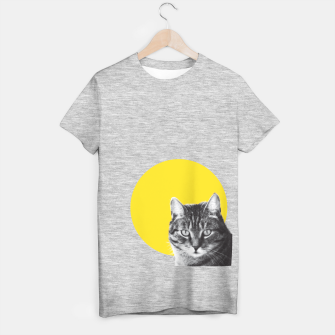 Cat stare T-shirt regular Bild der Miniatur
