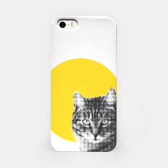 Miniatur Cat stare iPhone Case, Live Heroes