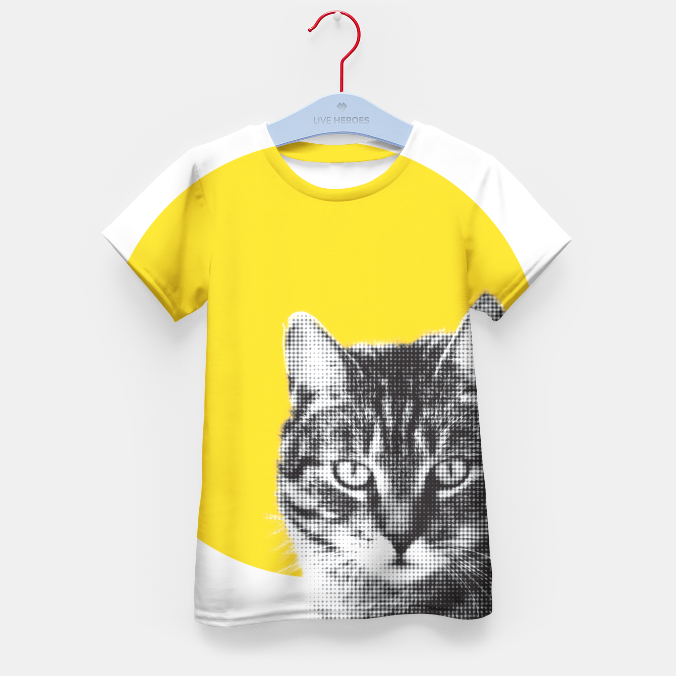 Foto Cat stare Kid's t-shirt - Live Heroes