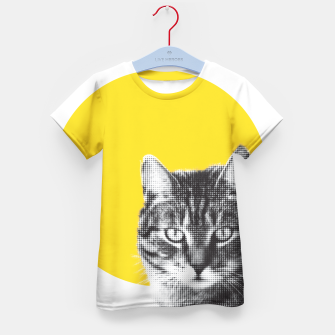 Thumbnail image of Cat stare Kid's t-shirt, Live Heroes
