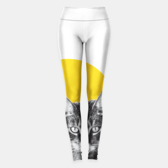 Cat stare Leggings Bild der Miniatur