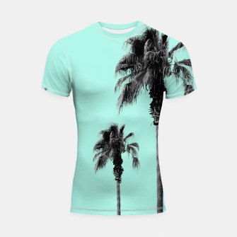 Miniature de image de Boho Palm Trees Dream #1 #minimal #tropic #decor #art Shortsleeve rashguard, Live Heroes