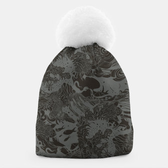 Big waves Dark Beanie Bild der Miniatur