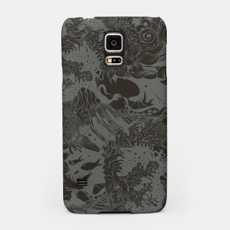 Big waves Dark Samsung Case Bild der Miniatur