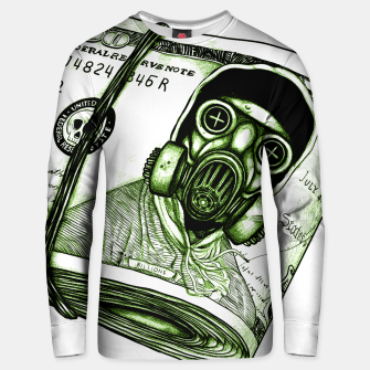 Gas Mask Dollar Unisex sweater Bild der Miniatur
