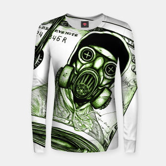 Miniatur Gas Mask Dollar Women sweater, Live Heroes