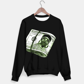 Gas Mask Dollar Sweater regular Bild der Miniatur