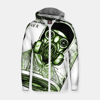 Miniatur Gas Mask Dollar Zip up hoodie, Live Heroes