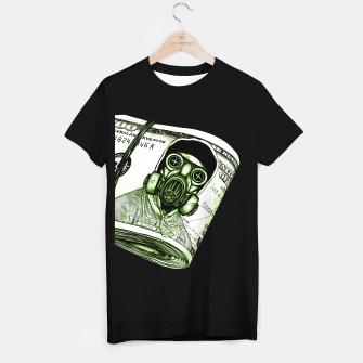 Gas Mask Dollar T-shirt regular Bild der Miniatur