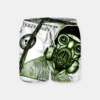 Miniatur Gas Mask Dollar Swim Shorts, Live Heroes
