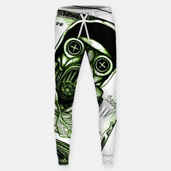 Miniatur Gas Mask Dollar Sweatpants, Live Heroes