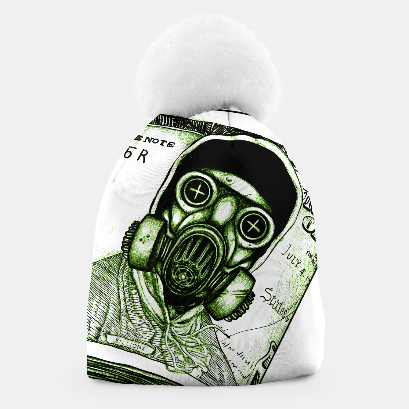 Foto Gas Mask Dollar Beanie - Live Heroes