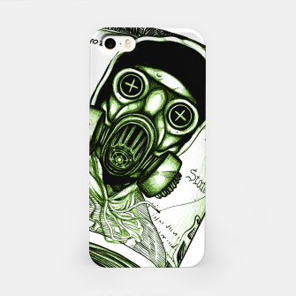 Miniatur Gas Mask Dollar iPhone Case, Live Heroes