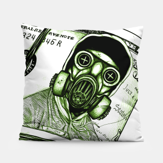 Miniatur Gas Mask Dollar Pillow, Live Heroes