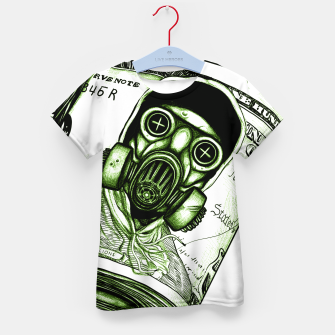 Miniatur Gas Mask Dollar Kid's t-shirt, Live Heroes