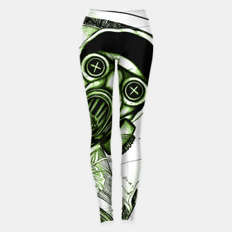 Gas Mask Dollar Leggings Bild der Miniatur