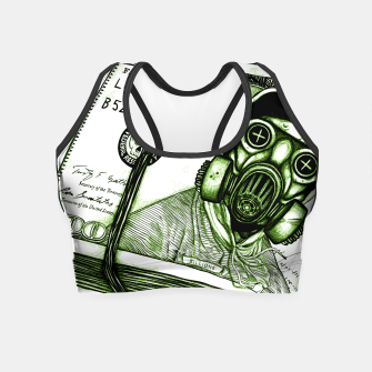 Miniatur Gas Mask Dollar Crop Top, Live Heroes