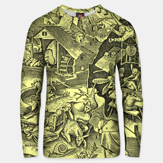 Miniatur Brueghel-The Seven Virtues (Depression without joy)  Unisex sweater, Live Heroes