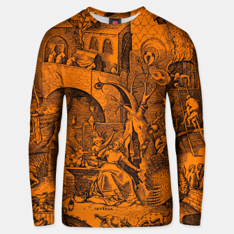 Brueghel-The Seven Virtues (Envy) Unisex sweater obraz miniatury
