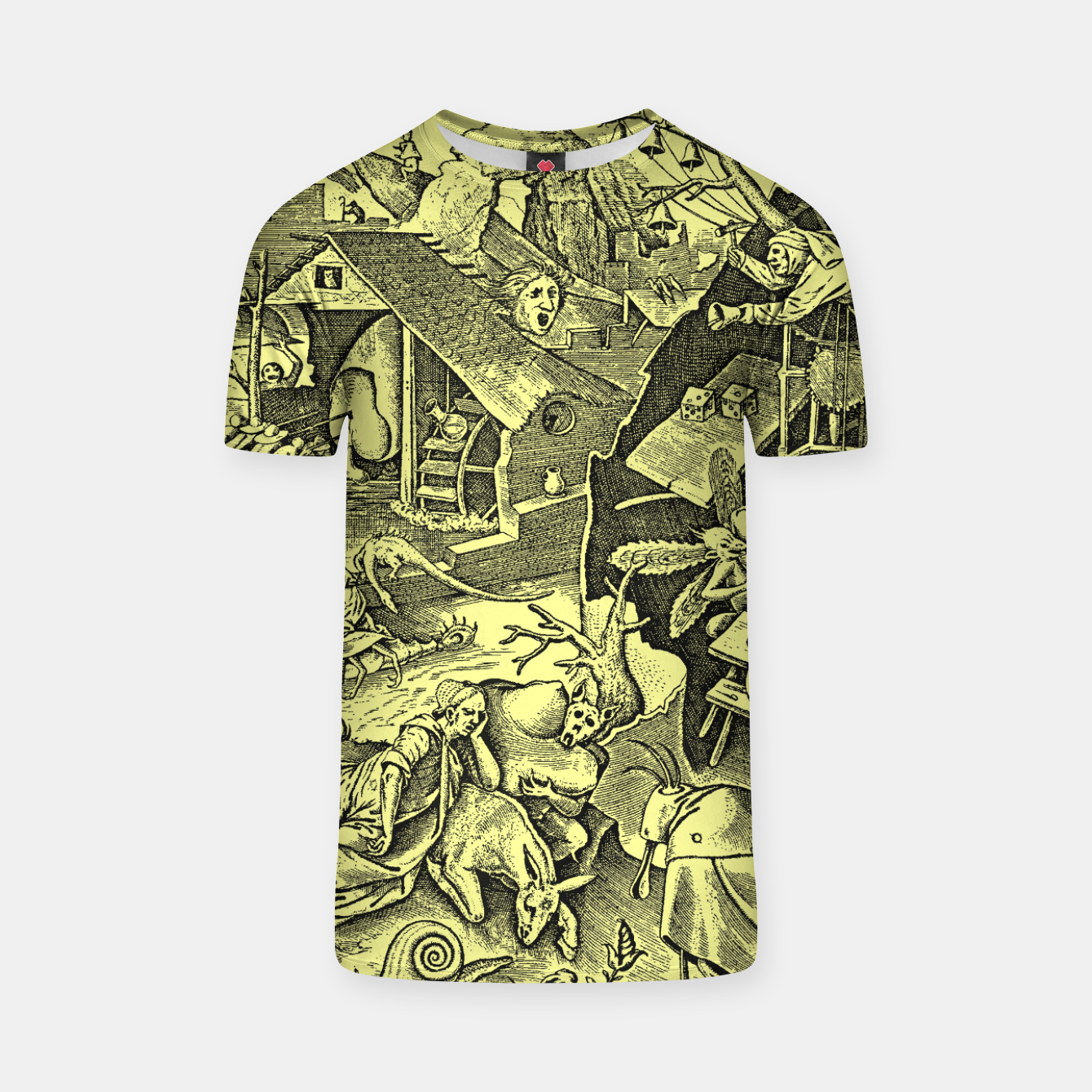 Zdjęcie Brueghel-The Seven Virtues (Depression without joy)  T-shirt - Live Heroes