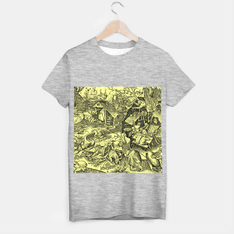 Brueghel-The Seven Virtues (Depression without joy)  T-shirt regular obraz miniatury