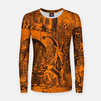 Miniaturka Brueghel-The Seven Virtues (Envy) Women sweater, Live Heroes
