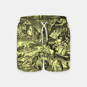 Brueghel-The Seven Virtues (Depression without joy)  Swim Shorts obraz miniatury