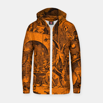 Brueghel-The Seven Virtues (Envy) Zip up hoodie obraz miniatury