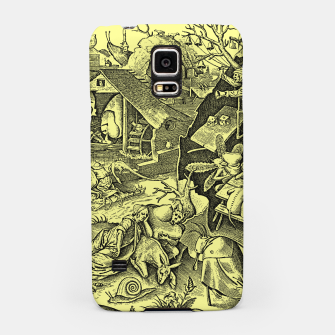 Brueghel-The Seven Virtues (Depression without joy)  Samsung Case obraz miniatury