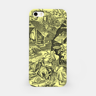 Brueghel-The Seven Virtues (Depression without joy)  iPhone Case obraz miniatury