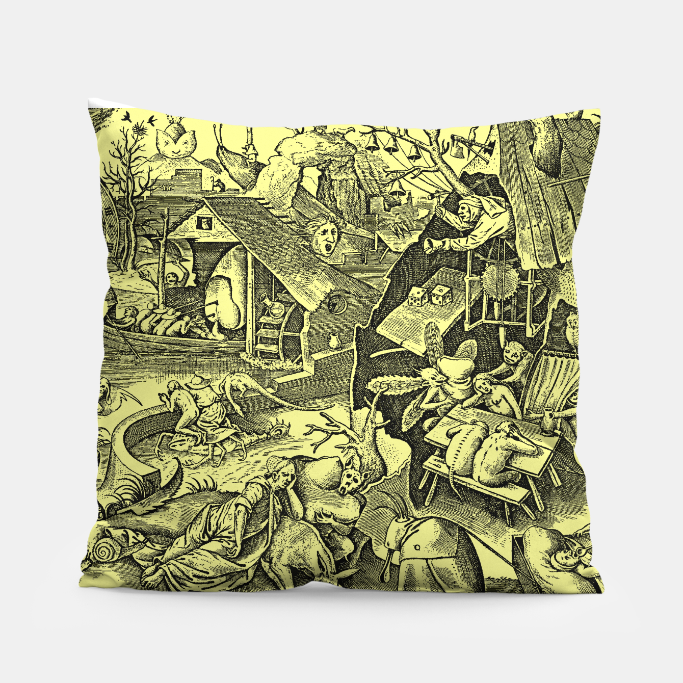 Zdjęcie Brueghel-The Seven Virtues (Depression without joy)  Pillow - Live Heroes