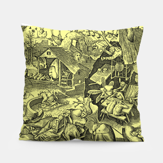 Brueghel-The Seven Virtues (Depression without joy)  Pillow obraz miniatury