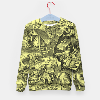 Miniaturka Brueghel-The Seven Virtues (Depression without joy)  Kid's sweater, Live Heroes