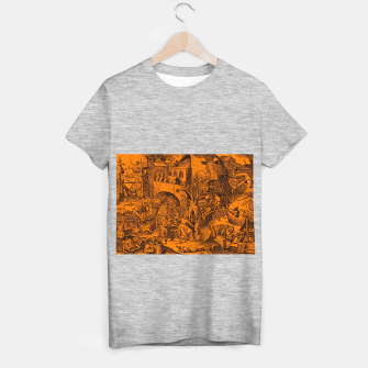 Brueghel-The Seven Virtues (Envy) T-shirt regular obraz miniatury