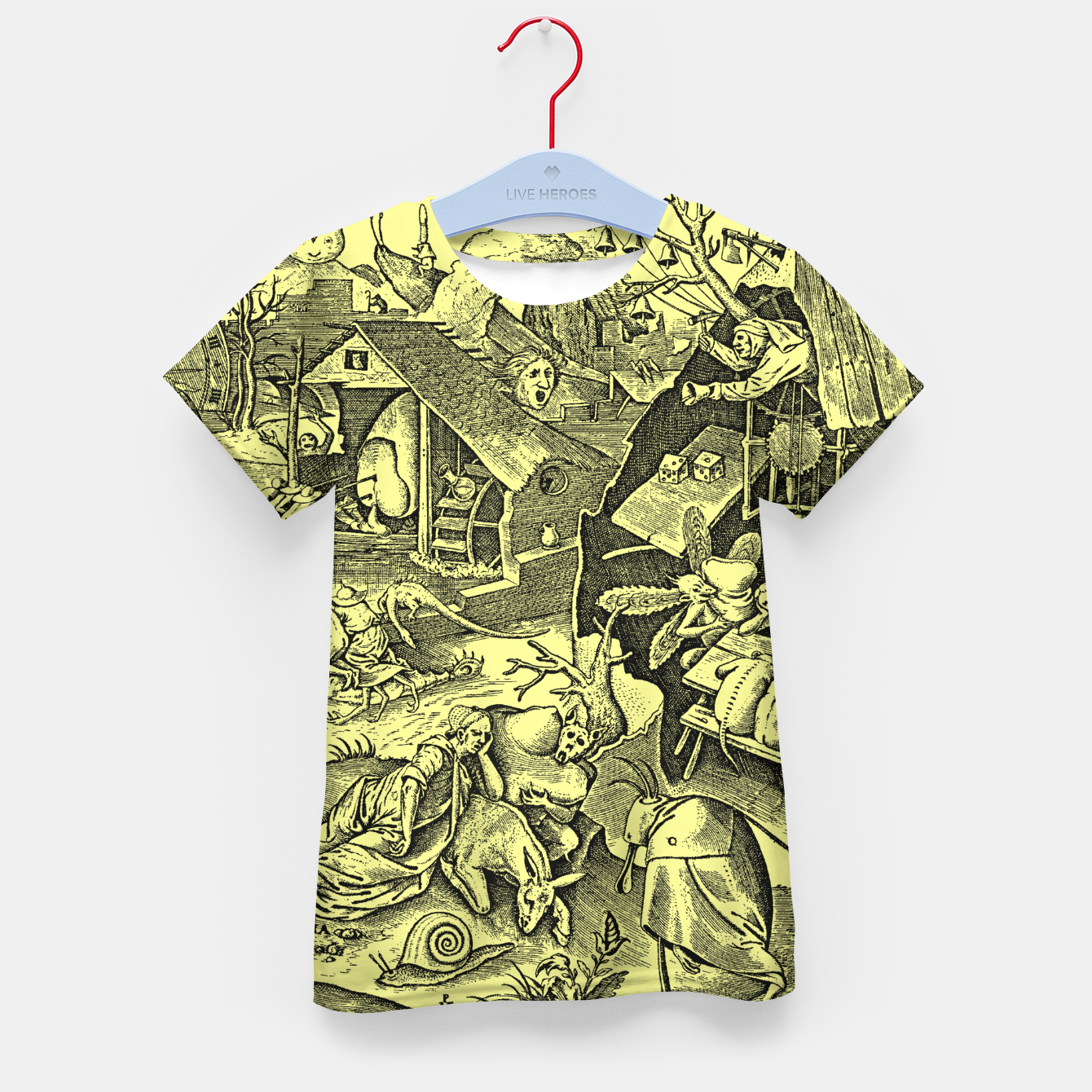 Zdjęcie Brueghel-The Seven Virtues (Depression without joy)  Kid's t-shirt - Live Heroes