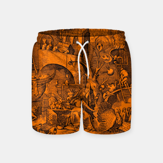 Brueghel-The Seven Virtues (Envy) Swim Shorts obraz miniatury