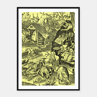 Brueghel-The Seven Virtues (Depression without joy)  Framed poster obraz miniatury