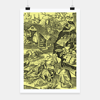Miniatur Brueghel-The Seven Virtues (Depression without joy)  Poster, Live Heroes
