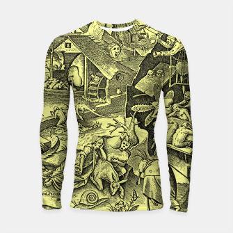 Brueghel-The Seven Virtues (Depression without joy)  Longsleeve rashguard  obraz miniatury