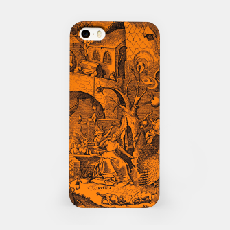 Brueghel-The Seven Virtues (Envy) iPhone Case obraz miniatury