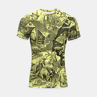 Miniaturka Brueghel-The Seven Virtues (Depression without joy)  Shortsleeve rashguard, Live Heroes