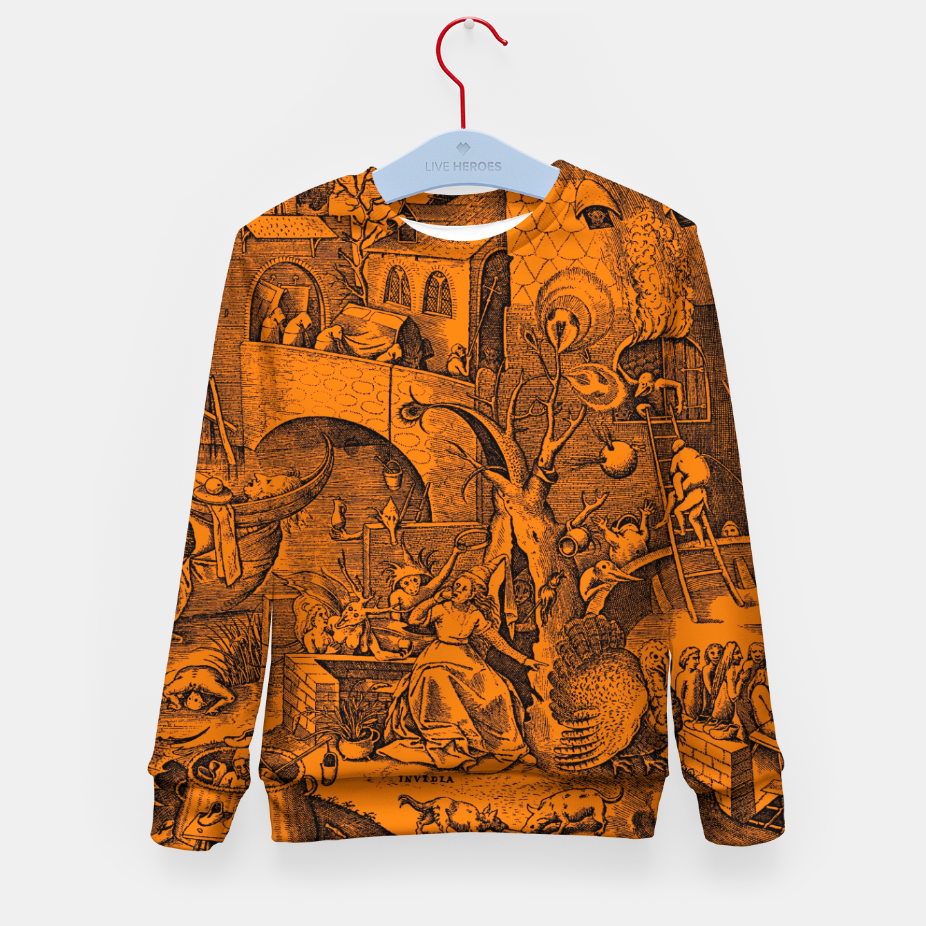 Zdjęcie Brueghel-The Seven Virtues (Envy) Kid's sweater - Live Heroes