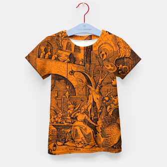 Brueghel-The Seven Virtues (Envy) Kid's t-shirt obraz miniatury