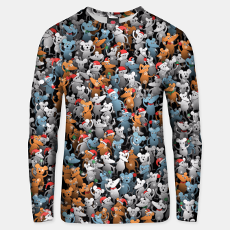 Miniature de image de Mouse New Year Unisex sweater, Live Heroes