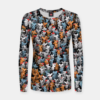 Miniature de image de Mouse New Year Women sweater, Live Heroes