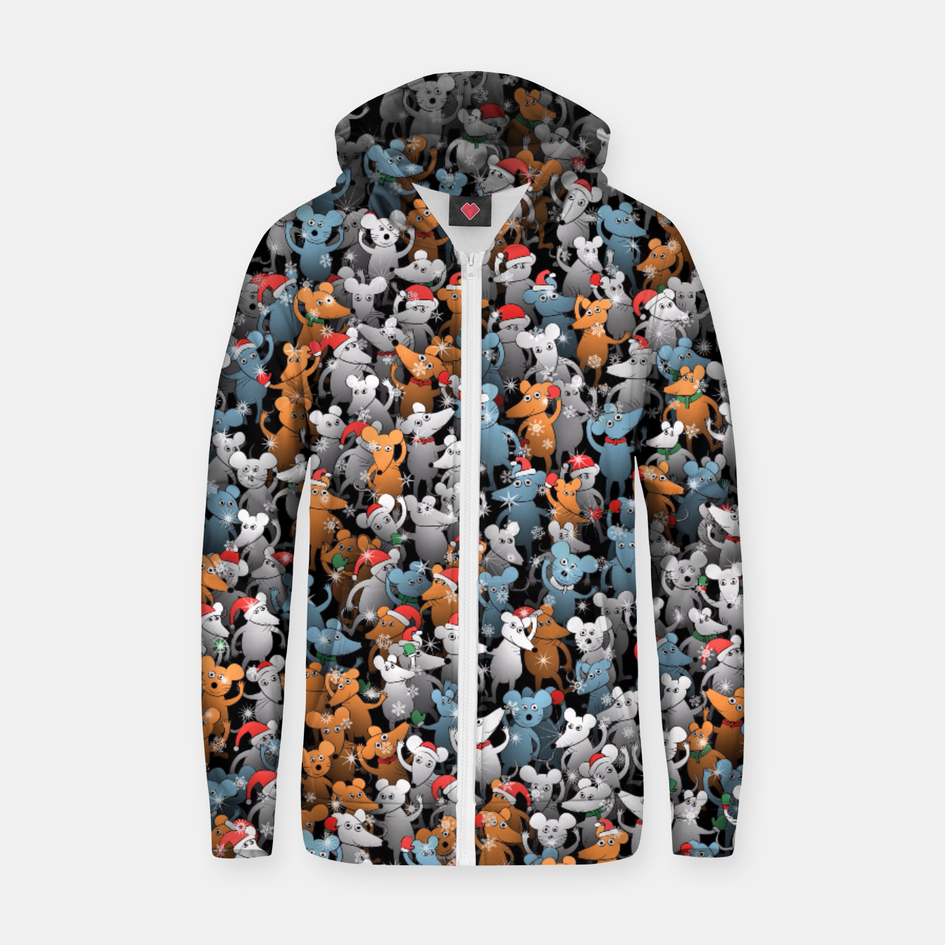 Image of Mouse New Year Zip up hoodie - Live Heroes