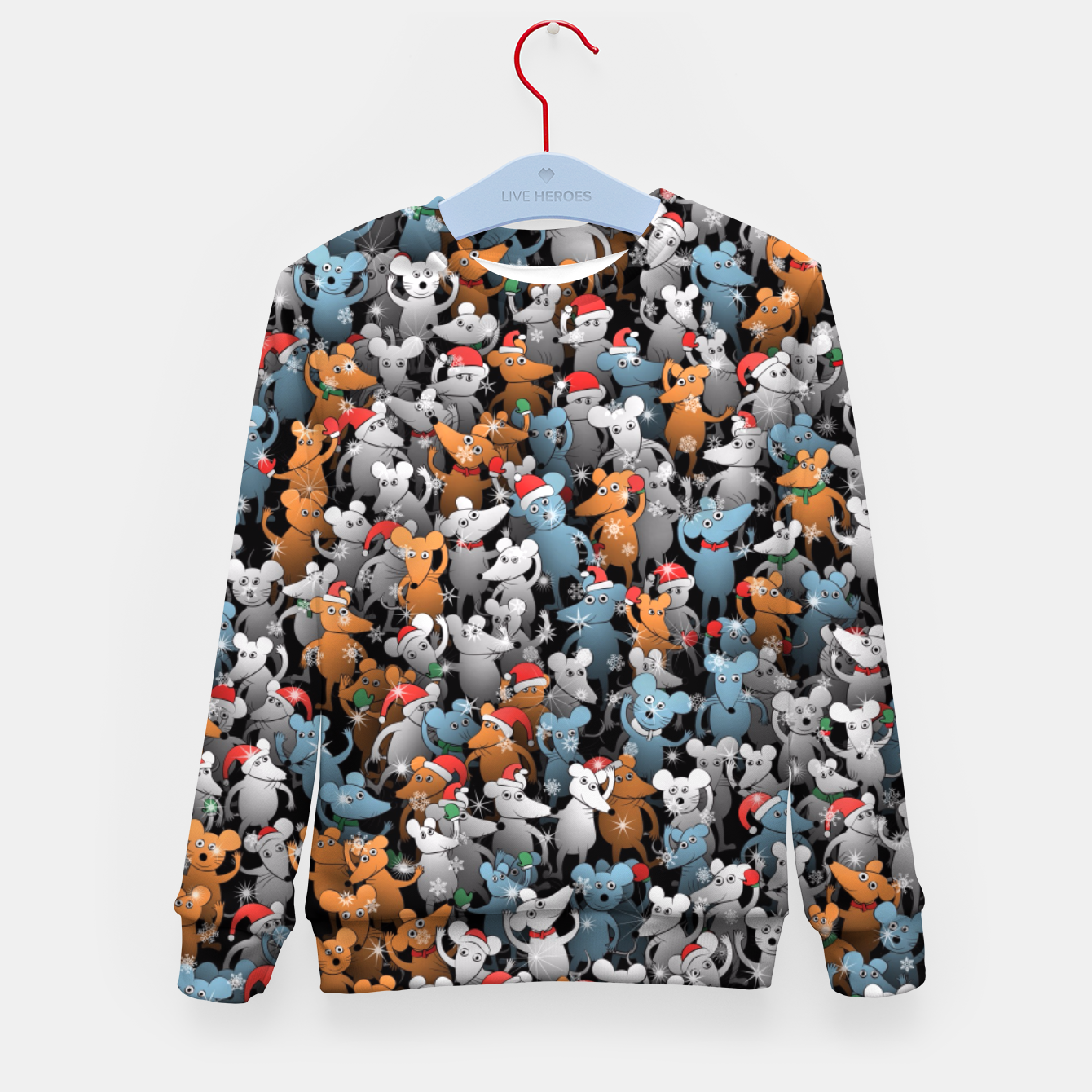 Image of Mouse New Year Kid's sweater - Live Heroes