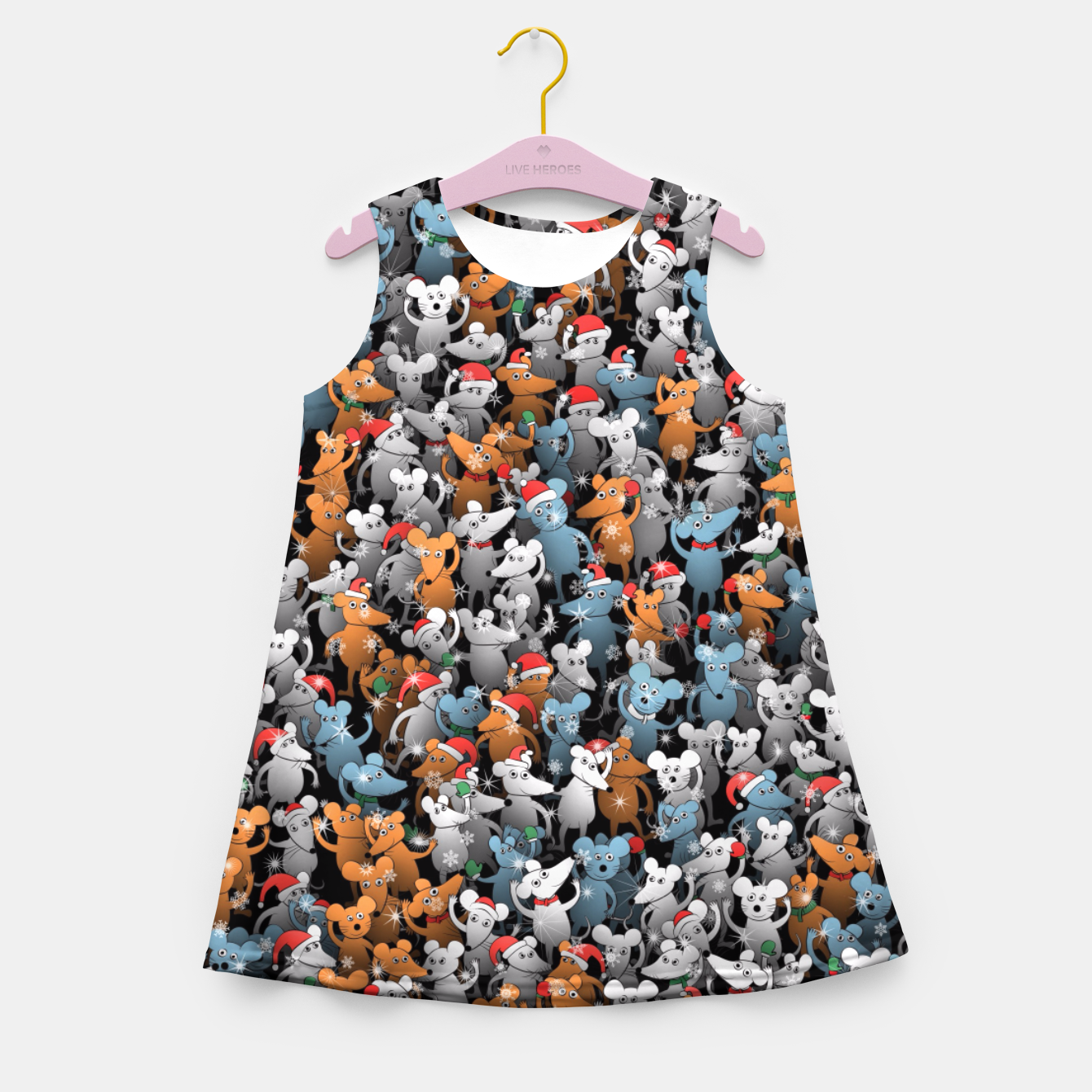Image of Mouse New Year Girl's summer dress - Live Heroes