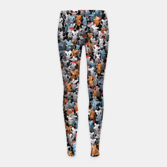 Thumbnail image of Mouse New Year Girl's leggings, Live Heroes