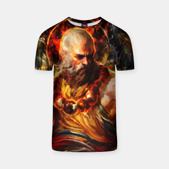 Thumbnail image of monk T-shirt, Live Heroes
